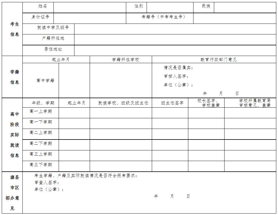 内蒙古2022学年上学期普通高中学业水平考试考籍注册和选课报名工作等有关事宜的通