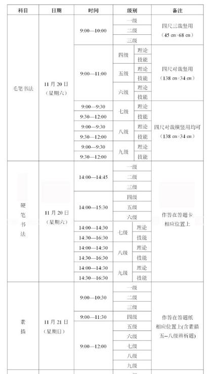 2021年下半年四川省书画等级考试报考通告